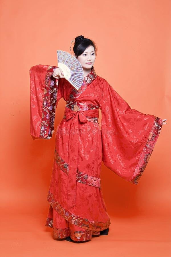 Mujer china de la dinastía de Han imagenes de archivo