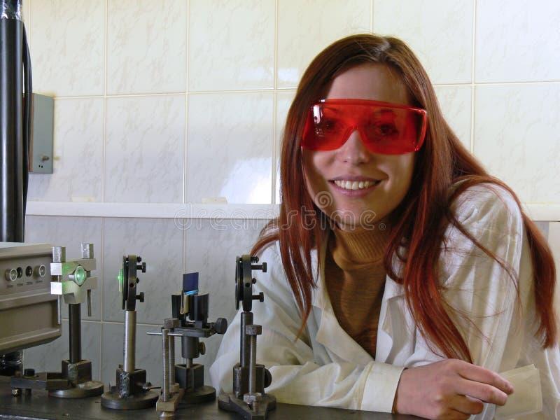 mujer-científico 3 imagen de archivo libre de regalías