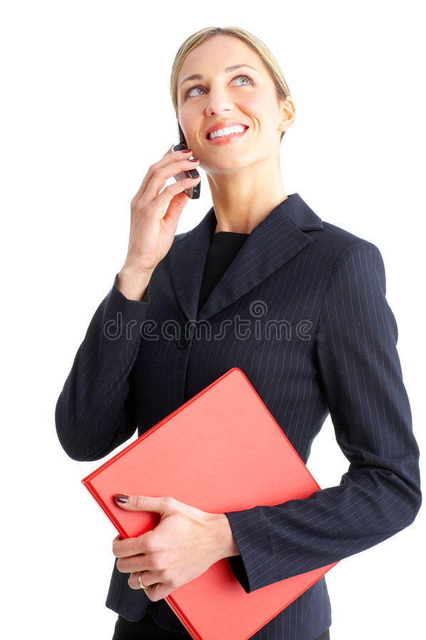 Mujer con celular foto de archivo