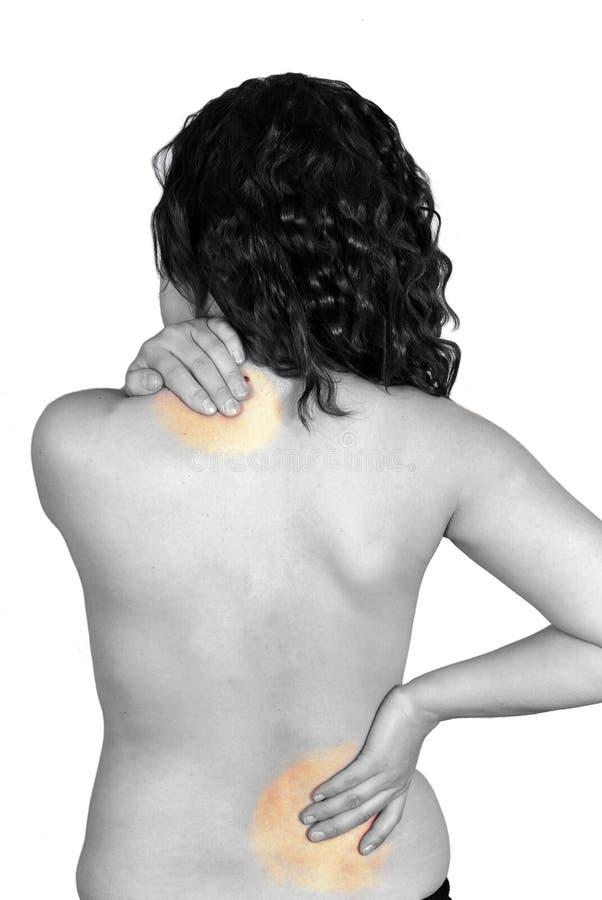 Mujer con dolor imagen de archivo