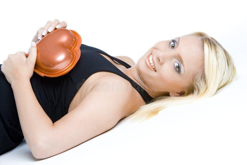 Mujer con el chocolate imagenes de archivo