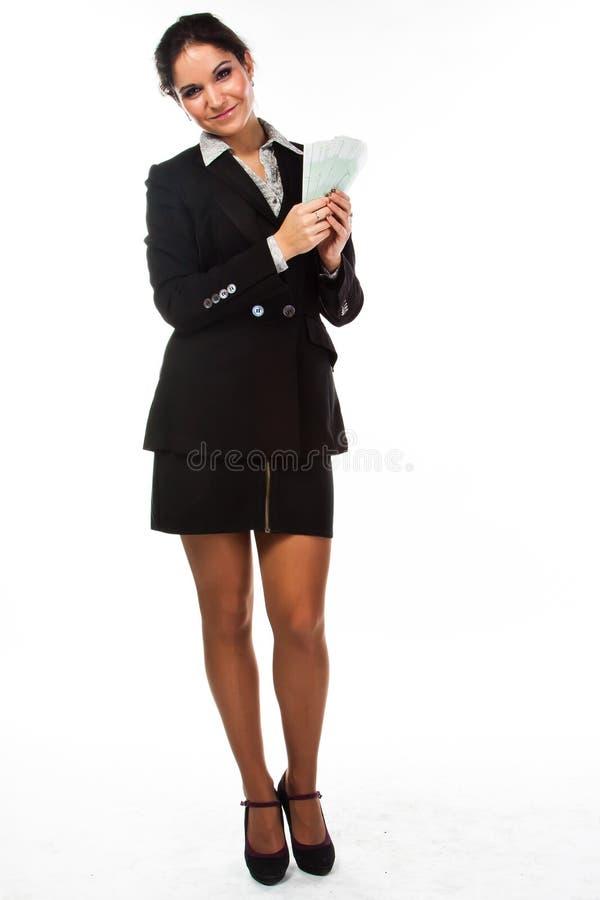 Mujer con el dinero fotografía de archivo libre de regalías