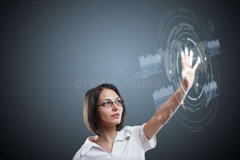 Mujer con el interfaz libre illustration