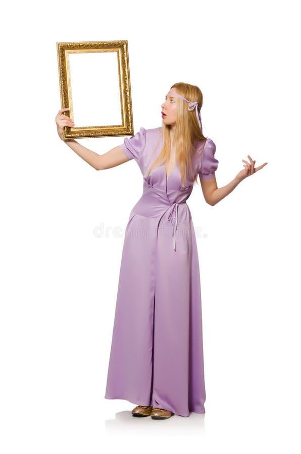 Download Mujer con el marco foto de archivo. Imagen de caucásico - 41914610