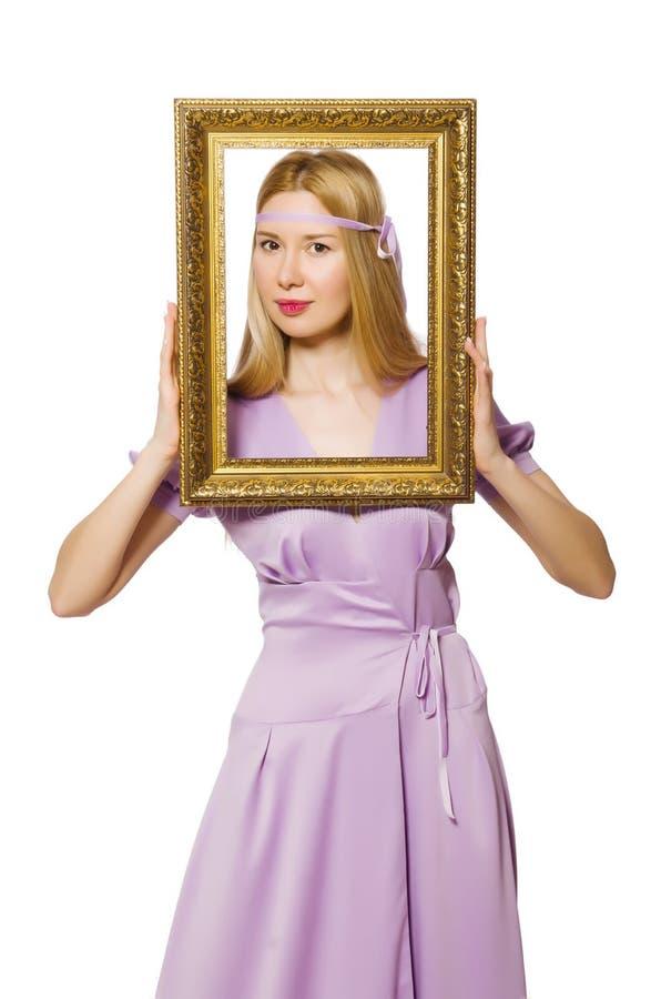 Download Mujer con el marco imagen de archivo. Imagen de recorte - 41914617