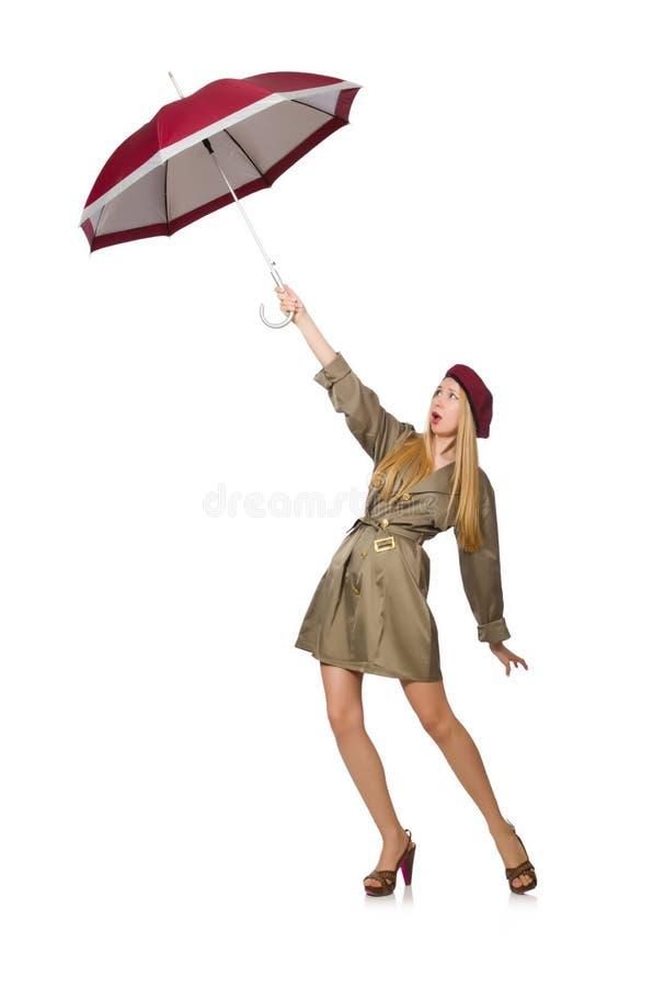 Download Mujer Con El Paraguas Aislado Foto de archivo - Imagen de caída, feliz: 41915466