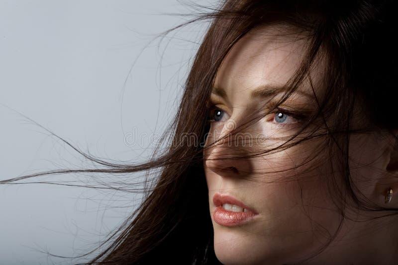 Mujer con el pelo hermoso imagen de archivo