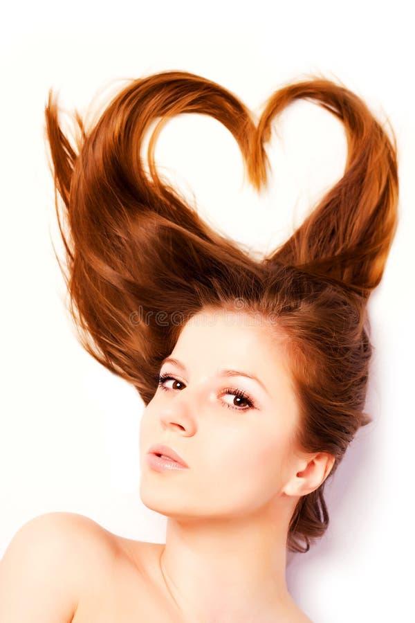 Mujer con el pelo largo imagen de archivo libre de regalías
