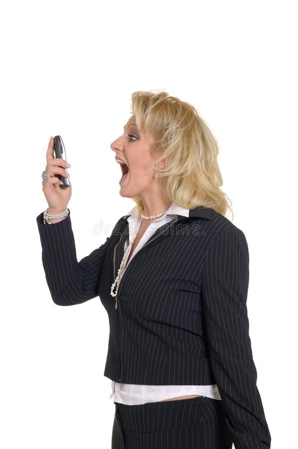 Mujer con el teléfono foto de archivo