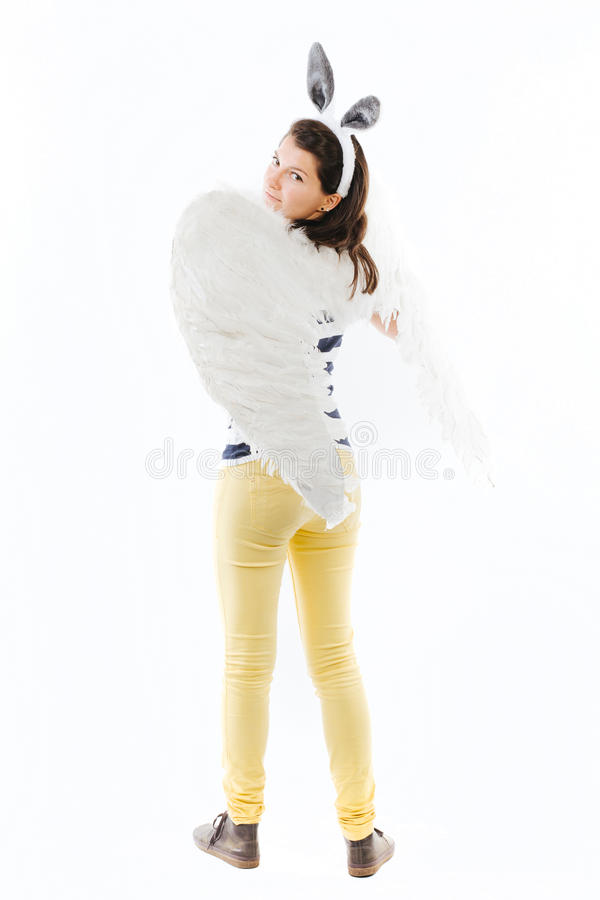 Mujer con el traje divertido imagen de archivo libre de regalías