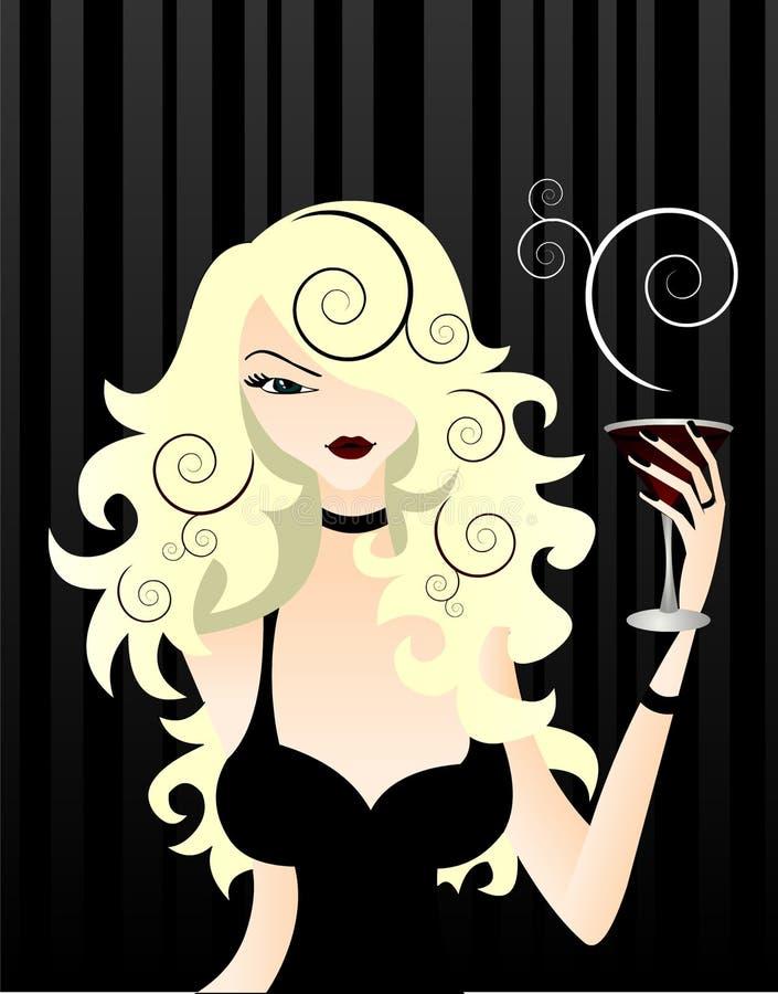 Mujer con estilo libre illustration