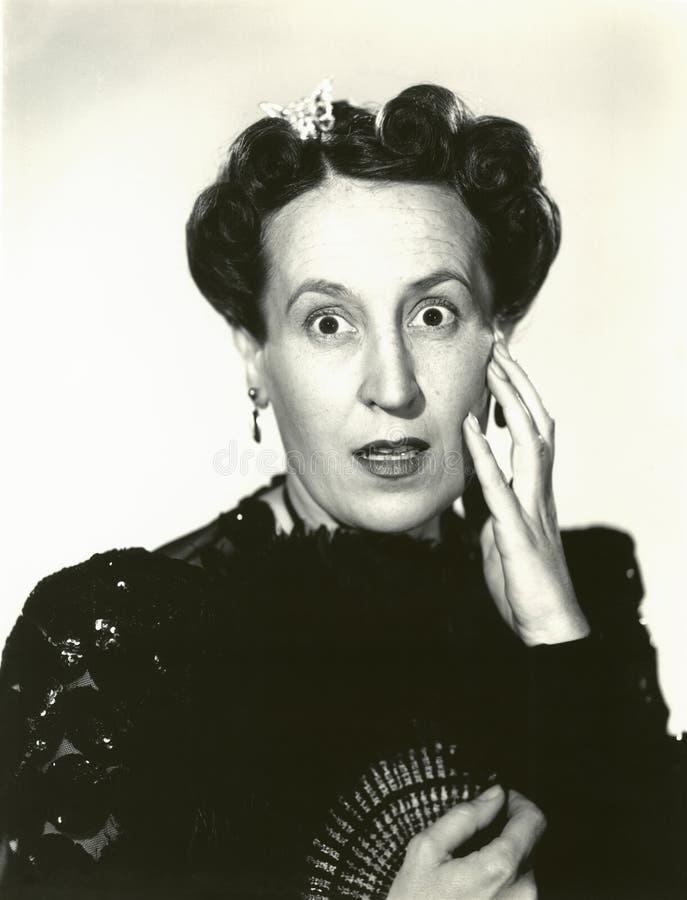 Mujer con incredulidad fotos de archivo