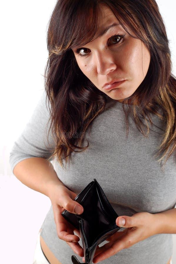 Mujer con la carpeta vacía fotografía de archivo libre de regalías