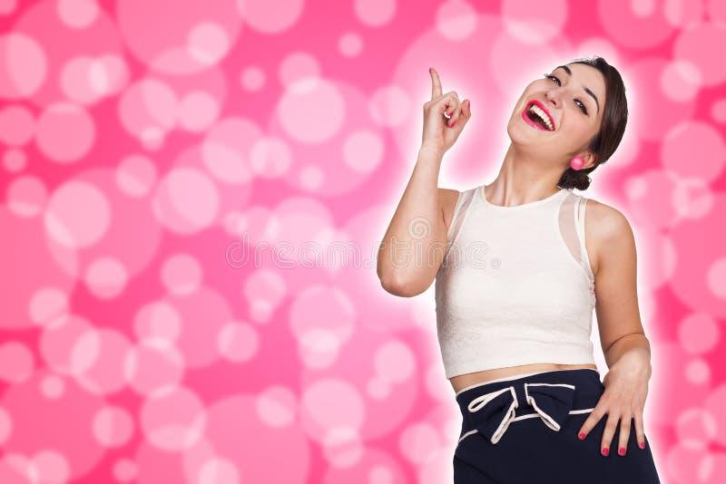 Mujer con la expresión feliz fotografía de archivo