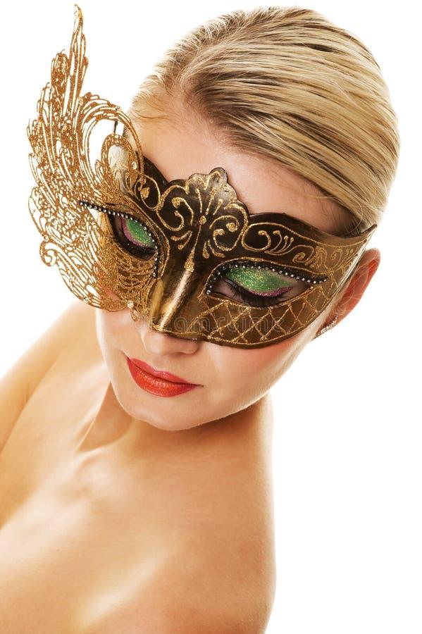 Mujer con la máscara del carnaval imágenes de archivo libres de regalías