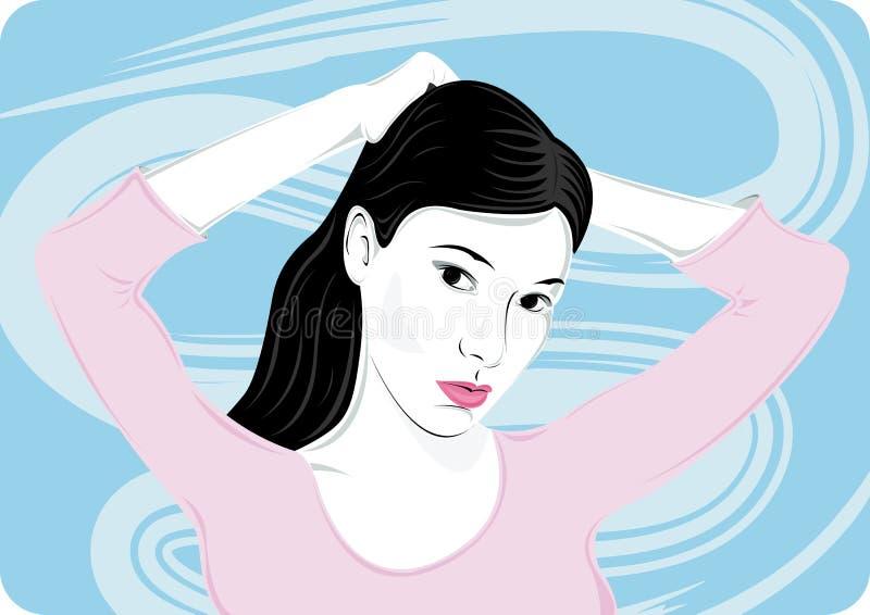 Mujer con las manos ilustración del vector