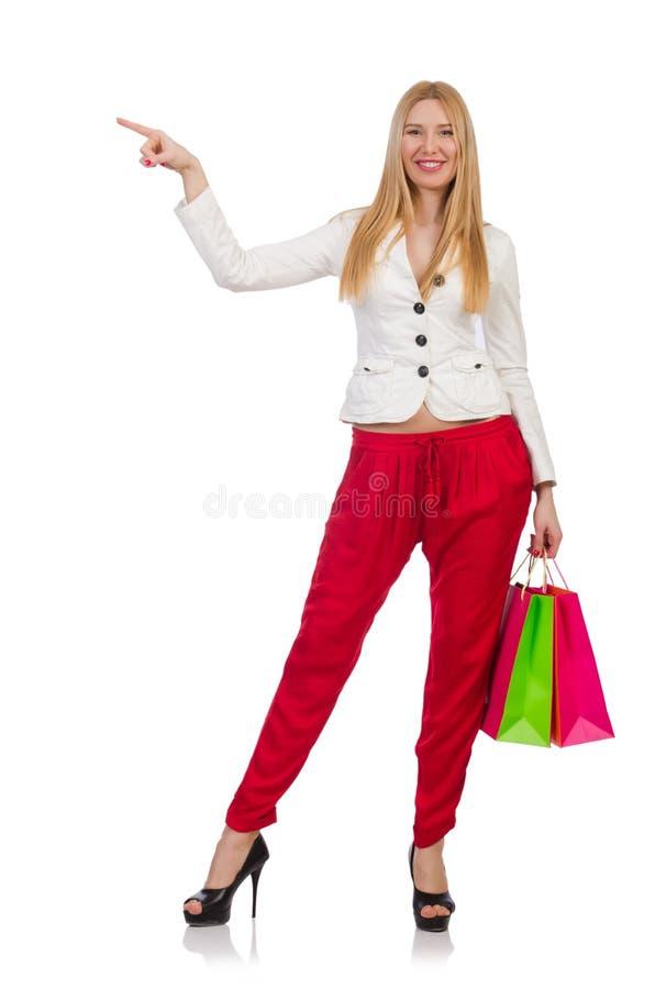 Download Mujer Con Los Panieres Aislados Stock de ilustración - Ilustración de regalo, atractivo: 41913050