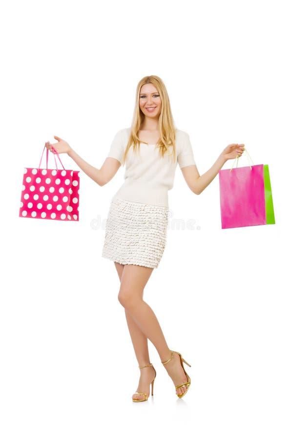 Download Mujer Con Los Panieres Aislados Imagen de archivo - Imagen de persona, lindo: 41913677