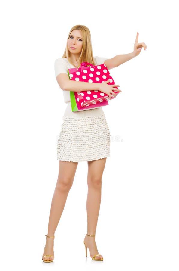 Download Mujer Con Los Panieres Aislados Stock de ilustración - Ilustración de atractivo, alegría: 41913680