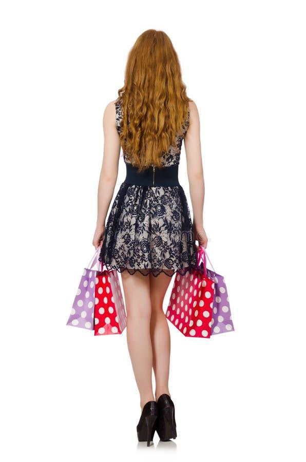 Download Mujer Con Los Panieres Aislados Foto de archivo - Imagen de bolsos, holding: 41914914