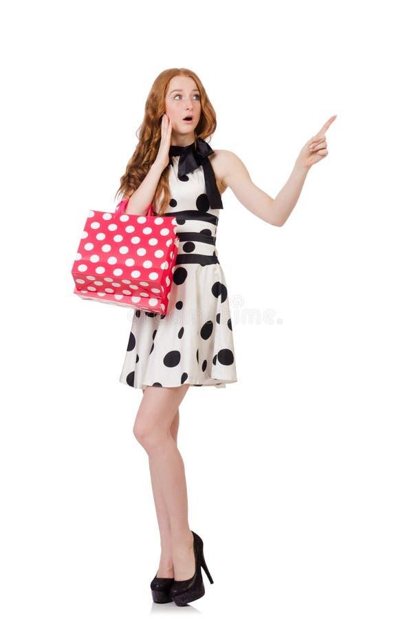 Download Mujer Con Los Panieres Aislados Stock de ilustración - Ilustración de hembra, pointing: 41916264