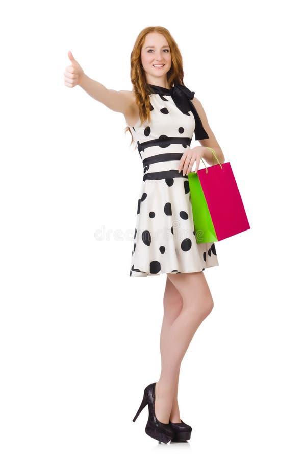 Download Mujer Con Los Panieres Aislados Foto de archivo - Imagen de cliente, lujo: 41916288