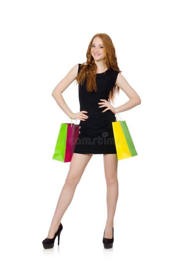 Download Mujer Con Los Panieres Aislados Imagen de archivo - Imagen de cara, feliz: 41917145