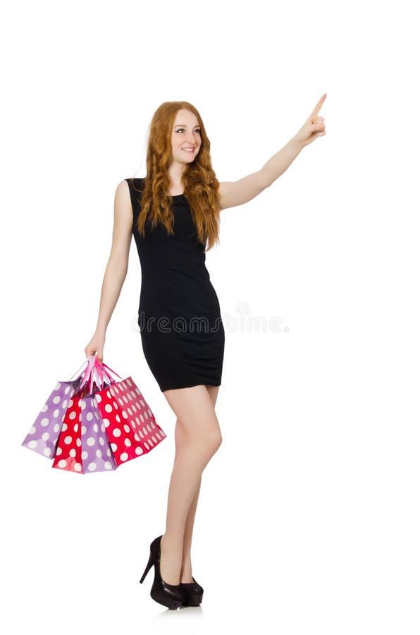 Download Mujer Con Los Panieres Aislados Stock de ilustración - Ilustración de regalo, manera: 41917190