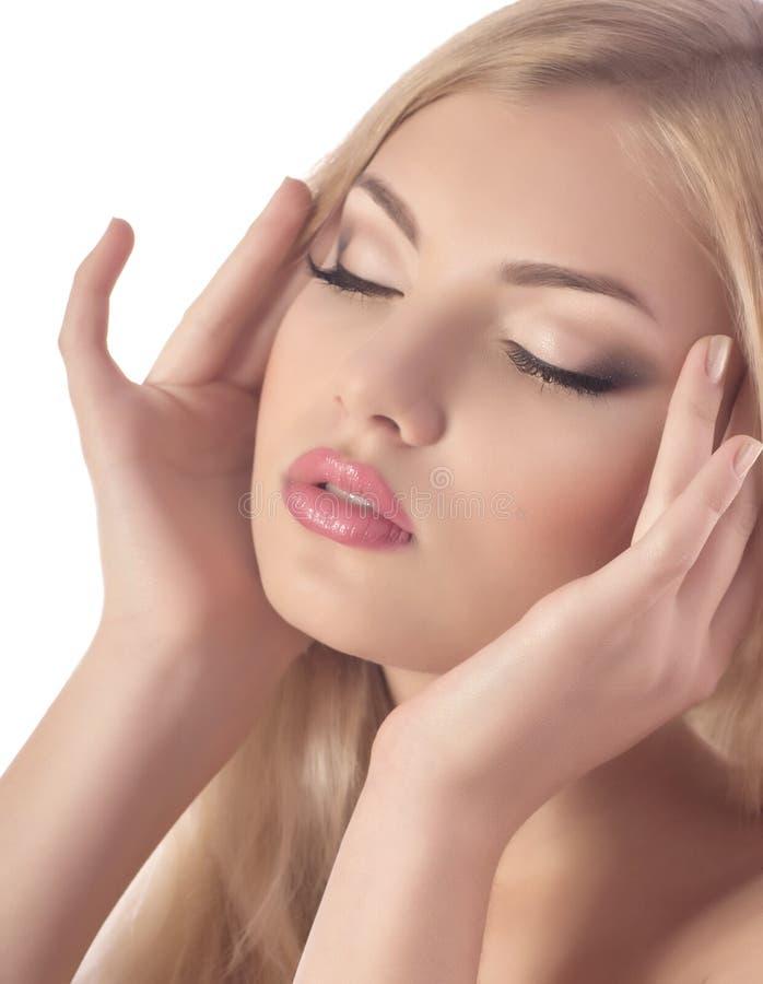Mujer con maquillaje imagen de archivo