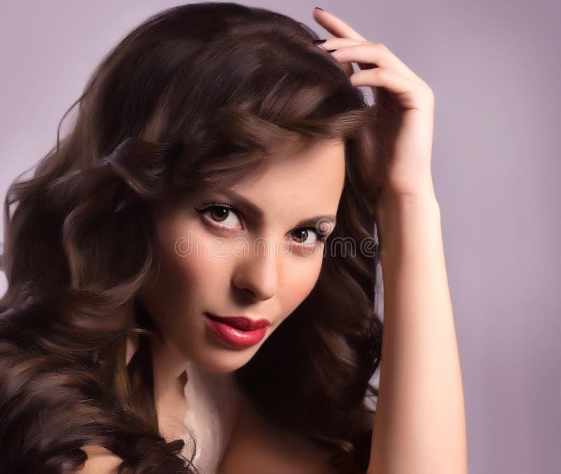 Mujer con maquillaje de la manera foto de archivo libre de regalías