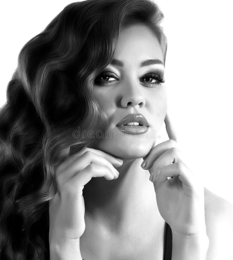 Mujer con maquillaje de la manera imágenes de archivo libres de regalías