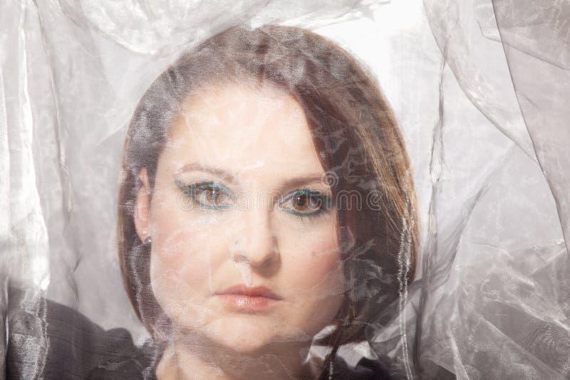 Mujer con maquillaje llamativo imágenes de archivo libres de regalías