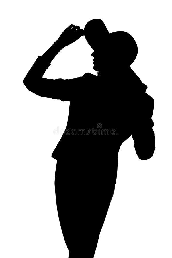 Mujer con un sombrero imagen de archivo libre de regalías
