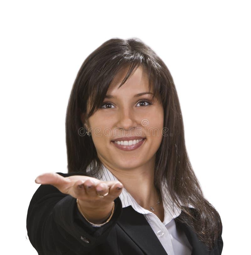 Mujer con una actitud positiva fotos de archivo libres de regalías