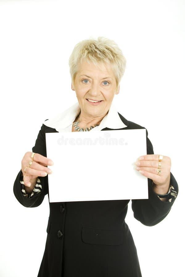 Mujer con una paginación imágenes de archivo libres de regalías