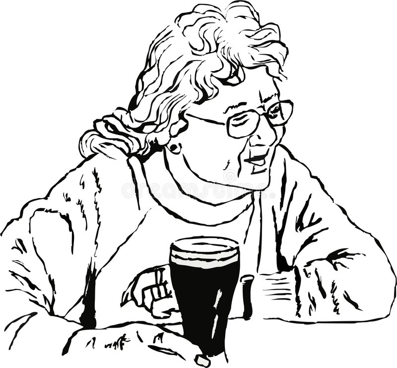 Mujer con una pinta stock de ilustración