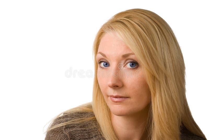 Mujer confidente imagen de archivo