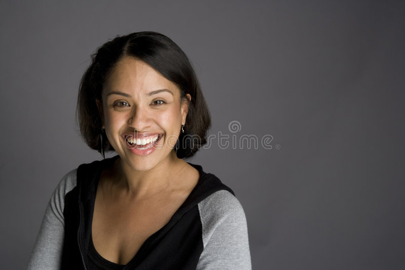 Mujer confidente del afroamericano fotos de archivo