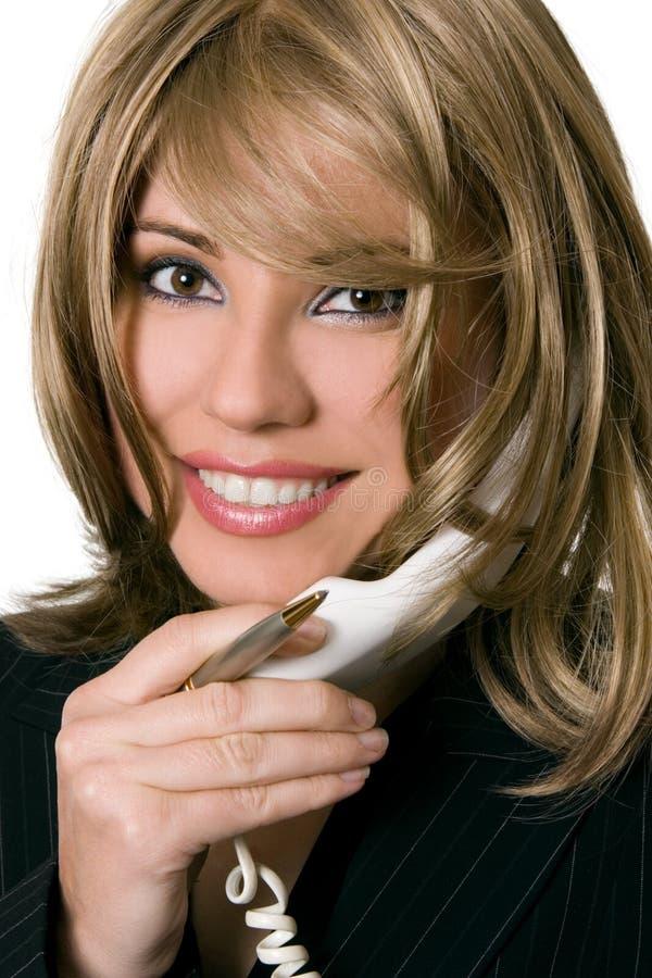 Mujer corporativa en el teléfono imágenes de archivo libres de regalías