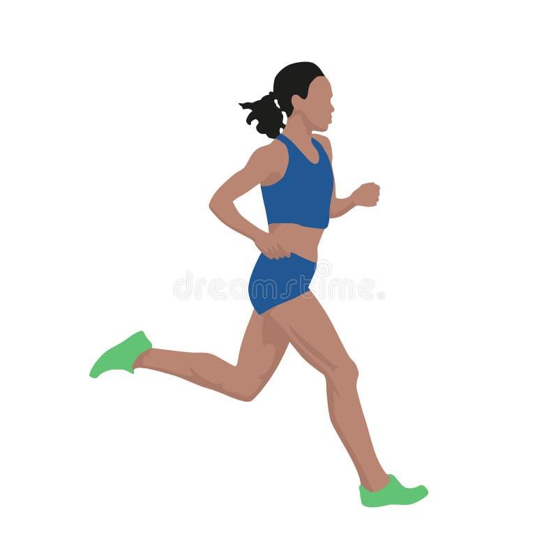Mujer corriente en el jersey azul, ejemplo del vector ilustración del vector