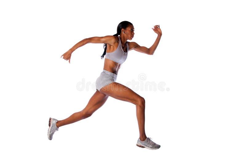 Mujer corriente rápida del atleta fotografía de archivo libre de regalías