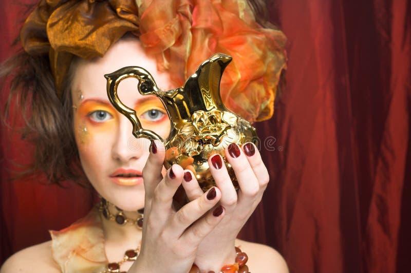 Mujer creativa imágenes de archivo libres de regalías