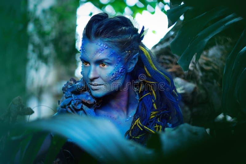Mujer de Avatar fotografía de archivo libre de regalías