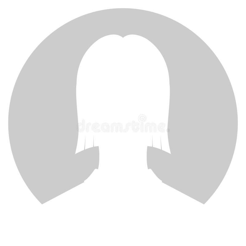 Mujer de Avatar en gris libre illustration