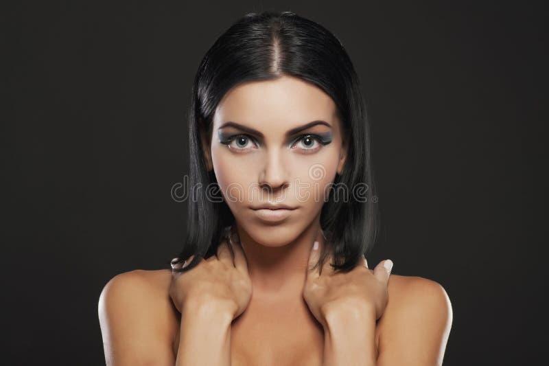 Mujer de Beautifil fotografía de archivo libre de regalías