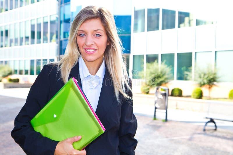 Mujer de carrera imagen de archivo