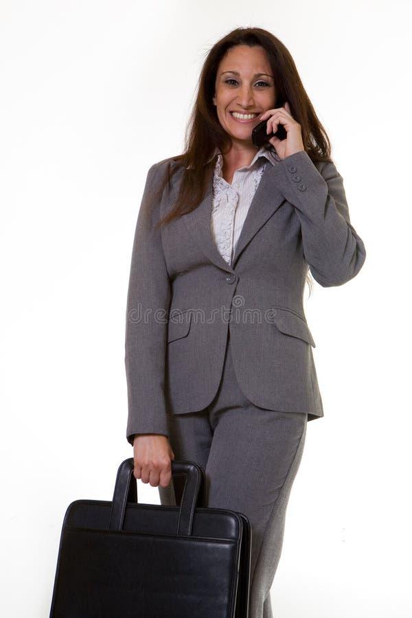 Mujer de carrera feliz imagenes de archivo