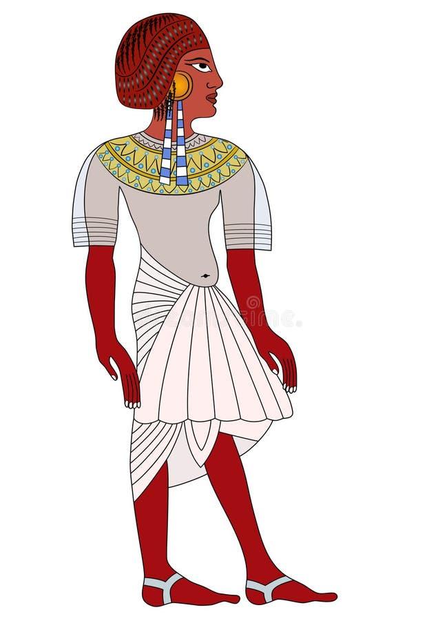 Mujer de Egipto antiguo stock de ilustración