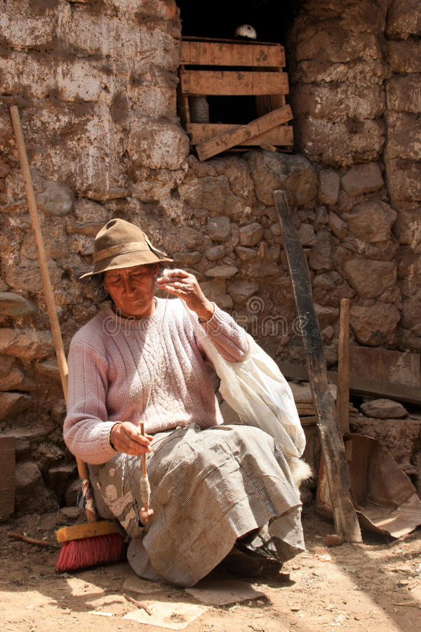 Mujer de giro, Suramérica fotos de archivo libres de regalías