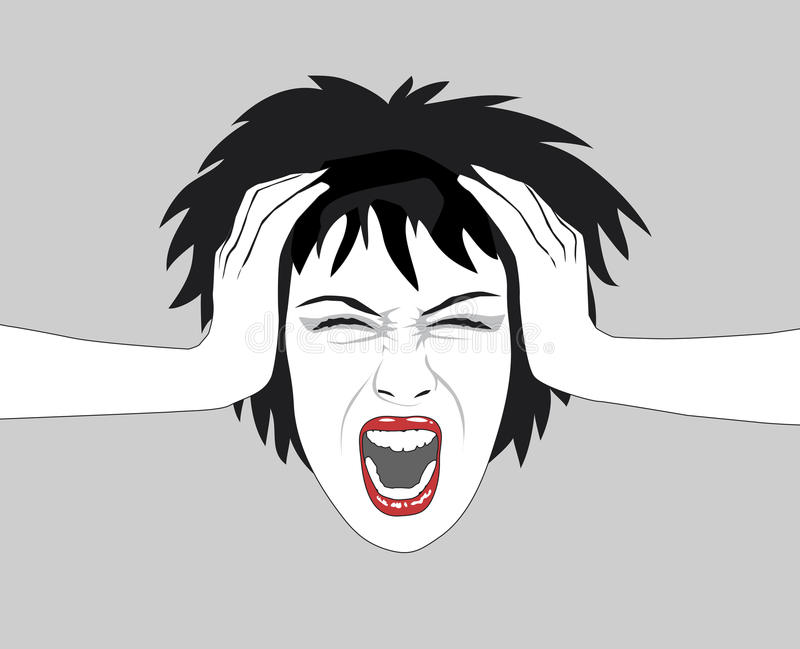 Mujer de griterío libre illustration